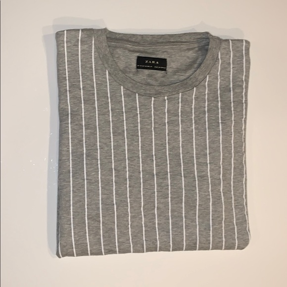 Zara Other - Men's Zara grey and white striped T shirt